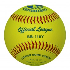"BB-110Y Tamanaco 9"" Official League Baseball Yellow (Sold by Dozen)"