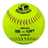 "SB-120Y Tamanaco 12"" Official Softball Yellow (Sold by Dozen)"
