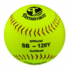 "Tamanaco SB-120Y  12"" Official Softball Yellow (Sold by Dozen)"